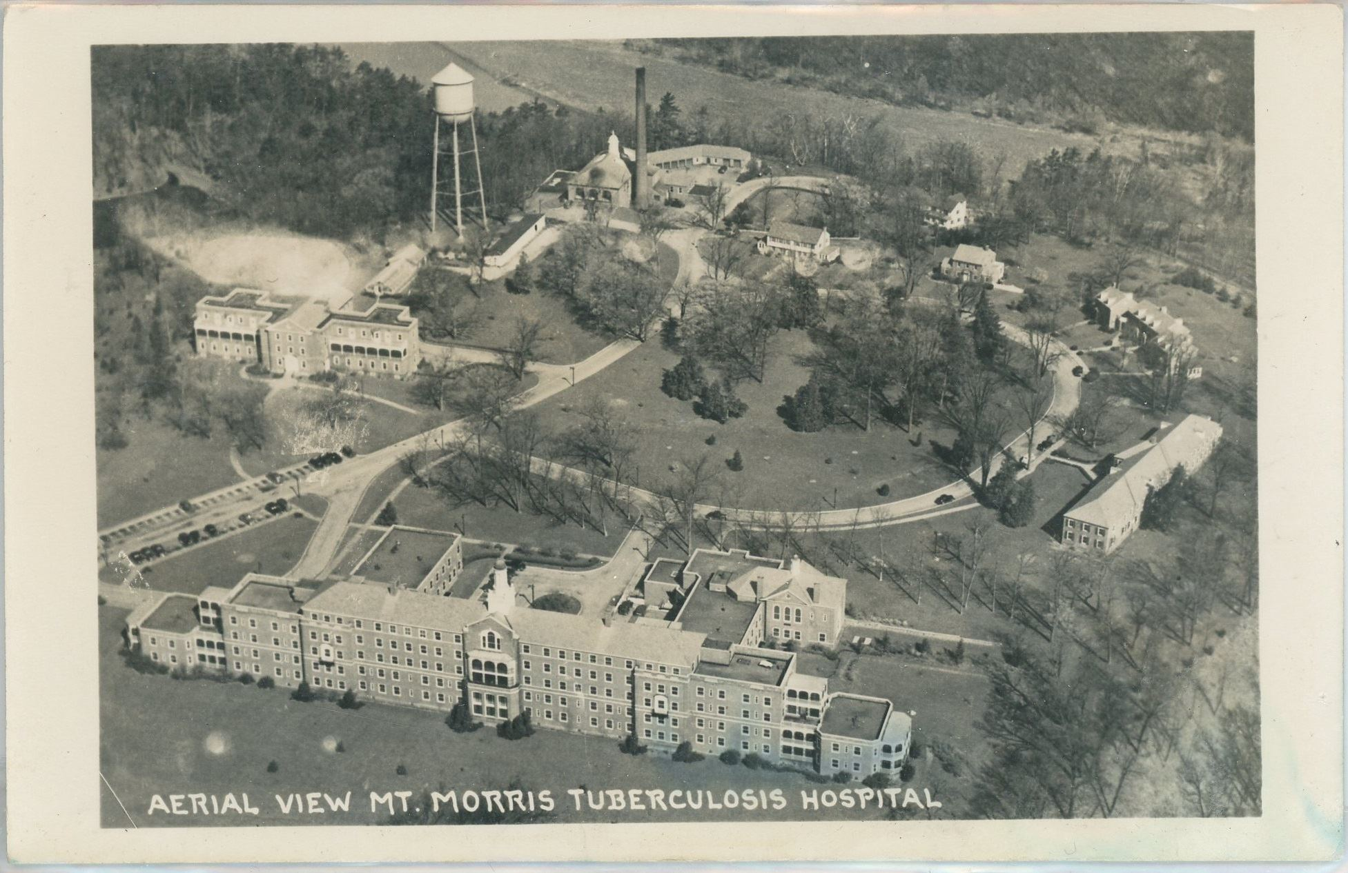 Aerial image of tuberculosis hospital