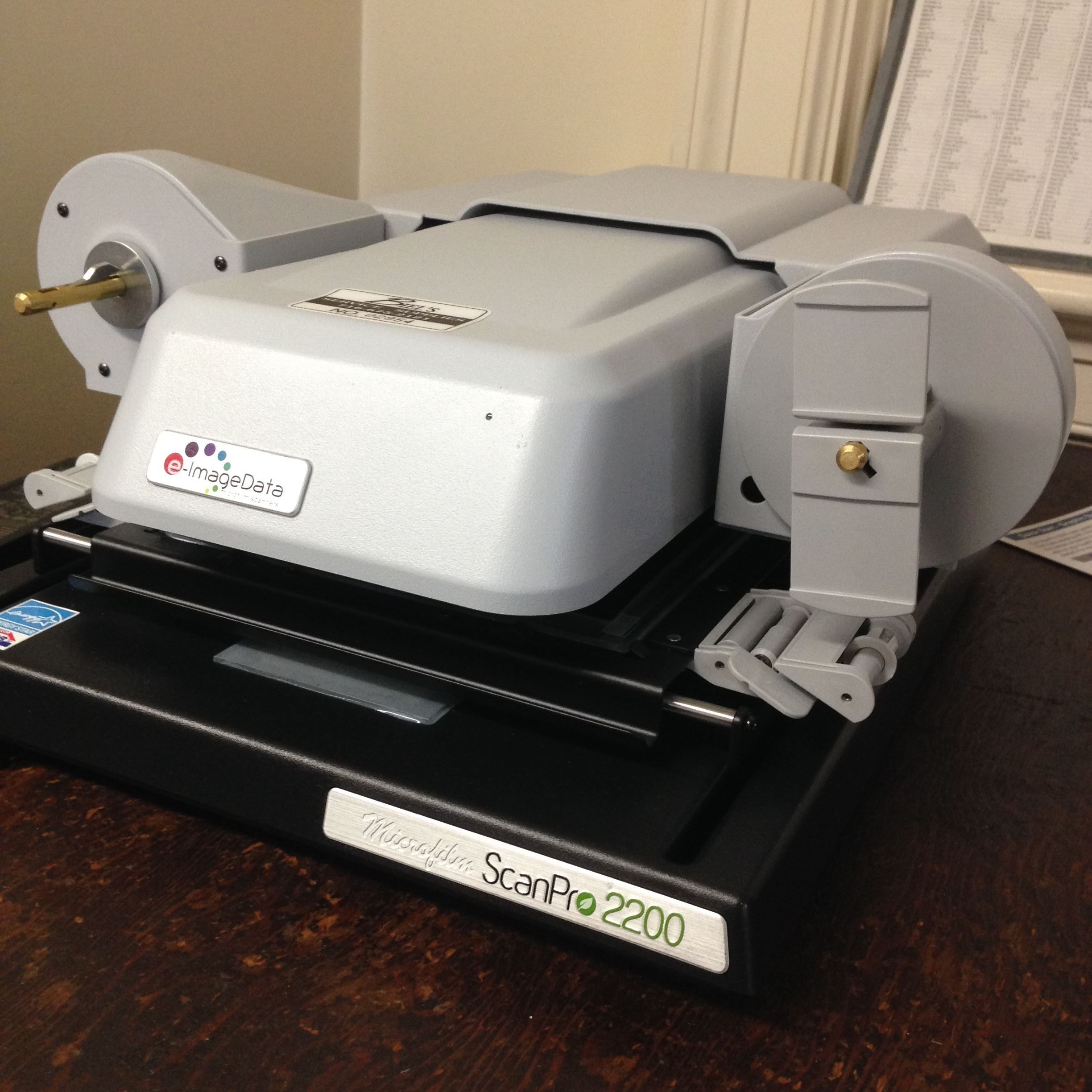 New Microfilm machine