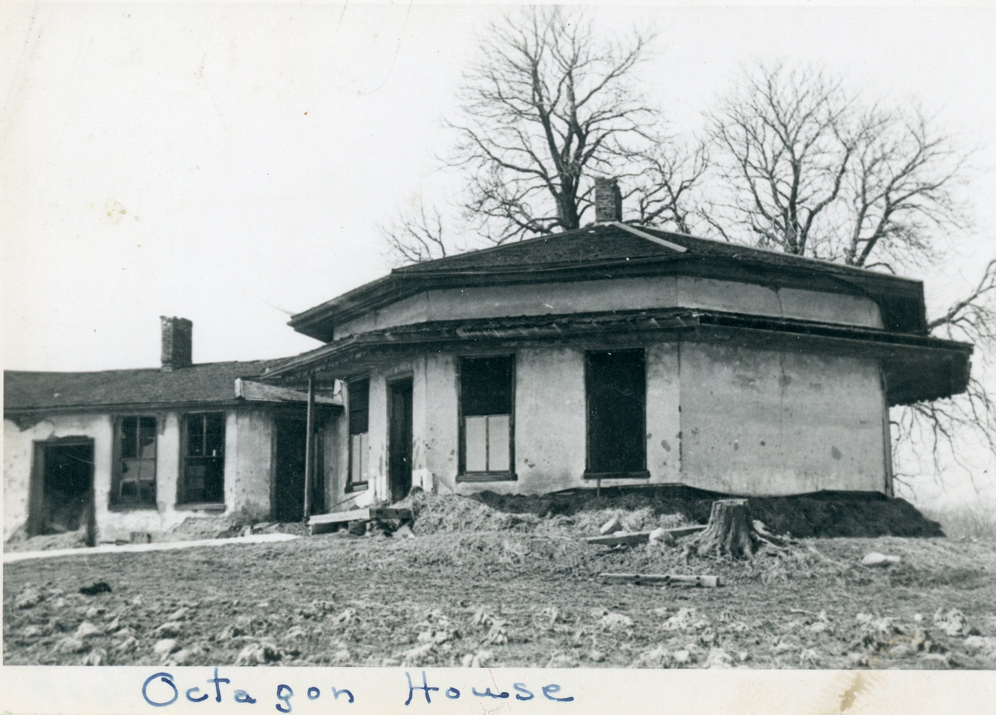 Image of octagonal house in town of York, Livingston County